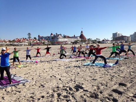 Beach yoga holiday 2013 Yogi Tribe